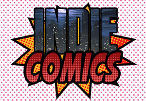 A halftone style logo for an online comic shop.  Branding