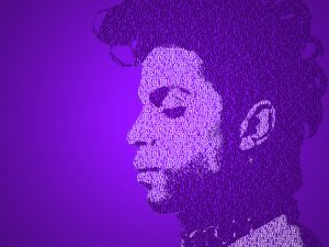 Prince Tribute for a wall hanging